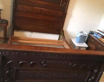 Circa 1860s 3 pc. Antique Walnut Bedroom Set