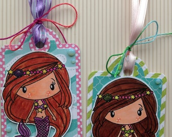 Mermaid Tags, Set of 2
