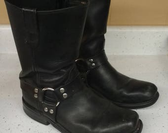 Double H Black Leather Harness / Engineer Boots size 10.2E