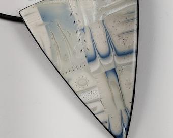 Denim Blue and Silver Grays Pendant