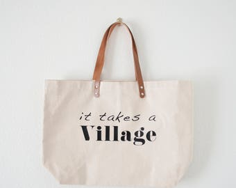 The Original 'It Takes a Village®' Tote, by The Village Magazine