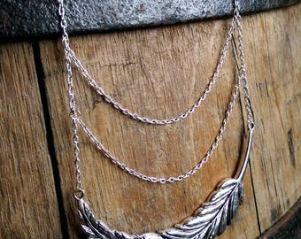 Liberty inspired feather necklace