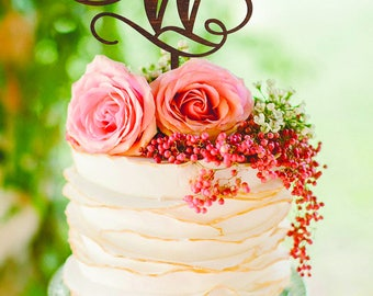 Letter W cake topper Initial cake topper Wood Monogram Wedding Cake Topper Personalized Wedding Cake Topper Letter W Wood Cake Topper Silver