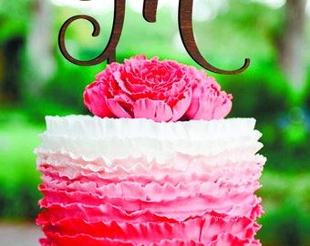 Wedding Cake Topper Letter M Cake Topper M Letter Gold Monogram wooden Letter M Wedding Cake Topper M Personalised cake topper letter wood