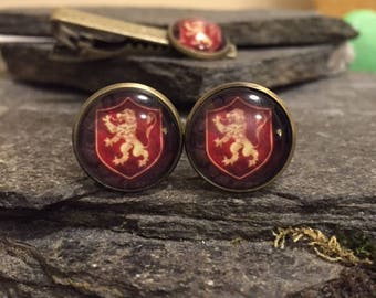 Lannister Cufflinks, Game of Thrones Cufflinks, Game of Thrones Tie Clips, Tie Bars, Pins, Tie Tacks, Cuff Links, Lapel Pin
