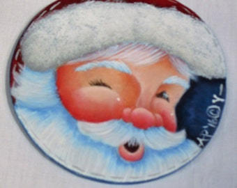 Line Drawing Only Many Faces of Santa