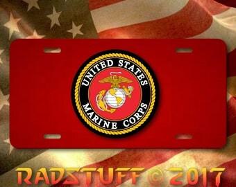 "United States Marine Corps Novelty License Plate 12""x 6"" Aluminum"