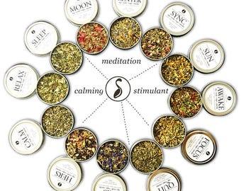 OUR SAMPLE BLENDS - Chakra Tea - Herb Blend - Herbal Magic, Diy Herbal Blend, Chakra Blend, Herbal Tea Blend, Herbal Soak, Herbal Bath Salts