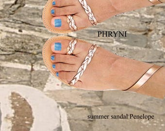 Sandals Womens,Womens Sandals,Leather Sandals,Sandales grecques, Greek  Sandals,Handmade Sandals, Rose Gold Sandals,Strappy  Sandals, PHRYNI