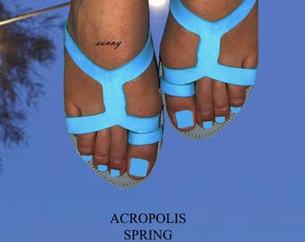 Sandals Women's,Women's Sandals,Summer Sandals,ARCHAIKO,Toe ring sandals,Handmade Sandals, Leather Sandals, ACROPOLIS SPRING