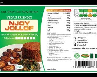 Njoyjollof's Instant J-Rice (250g). Share the word and spread the joy.. Njoyjollof x 5 (FREE POSTAGE)