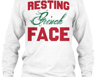Resting Grinch Face Long Sleeve Tee
