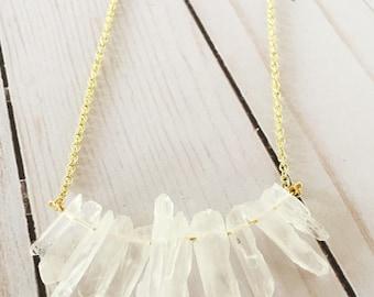Quartz Statement Necklace | Quartz Necklace | Statement Necklace