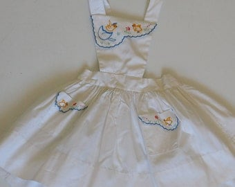 White girl dress with chicks embroidery summer