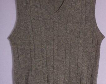 Vintage Kings Road Gray Wool Blend Sweater Vest, Size M