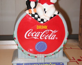 "Coca Cola ""Lunch With Us "" Cookie jar"