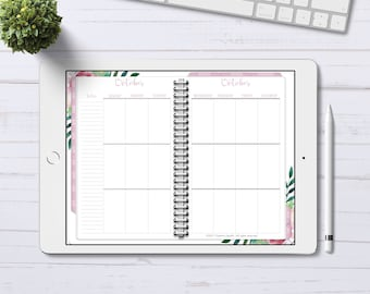 Digital Planner for GoodNotes, Undated Vertical Planner, Digital Planner with linked tabs, iPad Planner, iPad Pro Planner