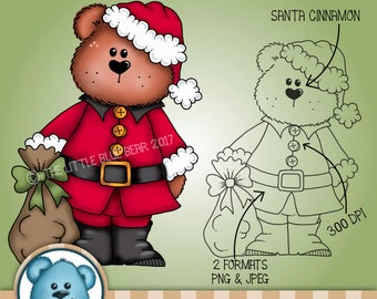INSTANT DOWNLOAD - Digital Digi Stamp - Santa Cinnamon