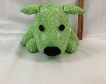 Dog Doorstop / green