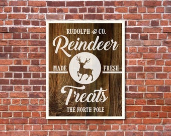 Magnolia Farms Christmas Vector, Reindeer SVG, Vintage Christmas SVG, Print, Vector, DXF, Fixer Upper, Rustic, Joanna Gaines, Wall Art