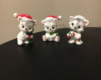 Christmas figurines set of 3