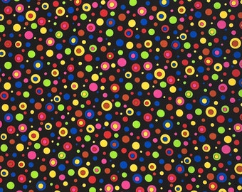 Colorful Dot Cotton Fabric, Fabric by the Yard, Fabric by the Half Yard, Quilting Fabric, Apparel Fabric