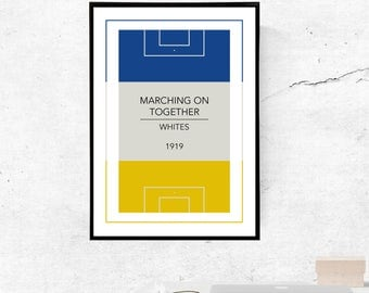 Leeds United, Marching On Together - A3/A4 Print