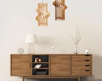 "Wood Lamp / Wooden Lamp Shade / Hanging Lamp / Pendant Light / Decorative Ceiling Lamp / Scandinavian Style Lamp / Modern Lamp / ""Sraigtas"""