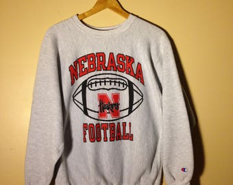 Vintage Champion Reverse Weave University of Nebraska Huskers Sweatshirt