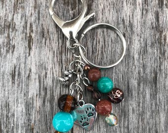 Keychains for Women, Beaded Dog Bag Charm, Dog Owners Gift, Purse Charm for Handbags, Beaded Keychain, Bag Charm, Dog Lover Gift, Gift