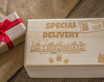 Christmas Eve Box - Personalised wooden box - 2 sizes available