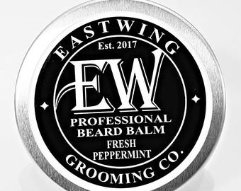 Professional Beard Balm in Fresh Peppermint aroma. Free UK Shipping & free gift bag