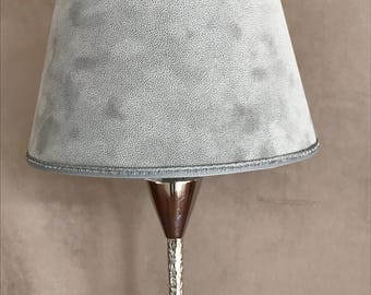 Table lamp GRANULO / gray suede ABJ