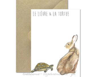 The Hare and the turtle card