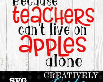 Because teachers can't live on apples alone SVG