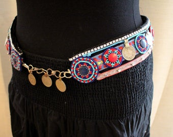 Tribal Fusion Bellydance Belt with big Coins