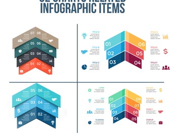 32 Charts Infographic set - instant download - Ai, Eps, Psd, Jpg, Keynotes, PowerPoint and PowerPoint Open Source