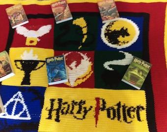 Harry Potter Book Title Blanket