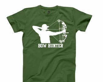 Bow Hunter T Shirt Hunting Deer Gun Rights T-shirt Dinner Fathers day Gift Tee