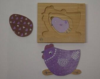 creepy purple egg and Chick