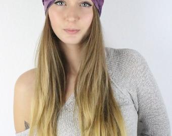 Turning headband Stir band Flower Violet