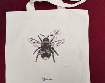 Fairy Bee with Wand Tote Bag