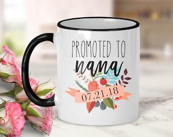 Promoted to Nana Banner Mug // Grandma Gift // Nana Gift // Grandparent Mug // Pregnancy Announcement