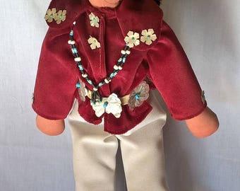 """Rare Antique Native American Navajo Doll 16"""""""