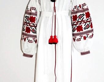 Embroidered Dress Vyshyvanka Ukrainian Embroidery Vishivanka Custom Embroidery Boho Dresses Kaftan Abaya Ethnic Clothing-Gift Bohemian Dress