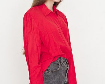 VINTAGE KURT KELLERMANN Red Button Downs Retro Shirt
