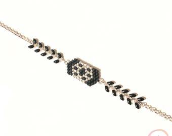 Spike and miyuki bracelet