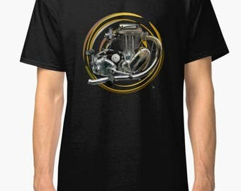 AJS Trials Engine inspired classic retro  Motorcycle TShirt INISHED productions