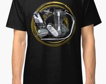 Norton International Icon engine Vintage Motorcycle T-Shirt INISHED Productions