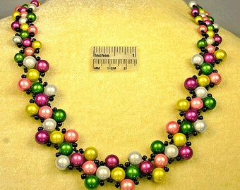 Pastel Meadow Necklace and Earrings